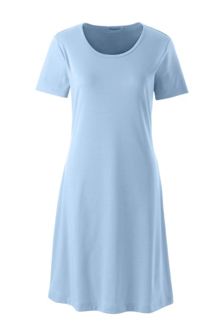 Women's Knee Length Supima Cotton Nightgown Short Sleeve