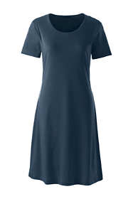 Women's Petite Knee Length Supima Cotton Nightgown Short Sleeve