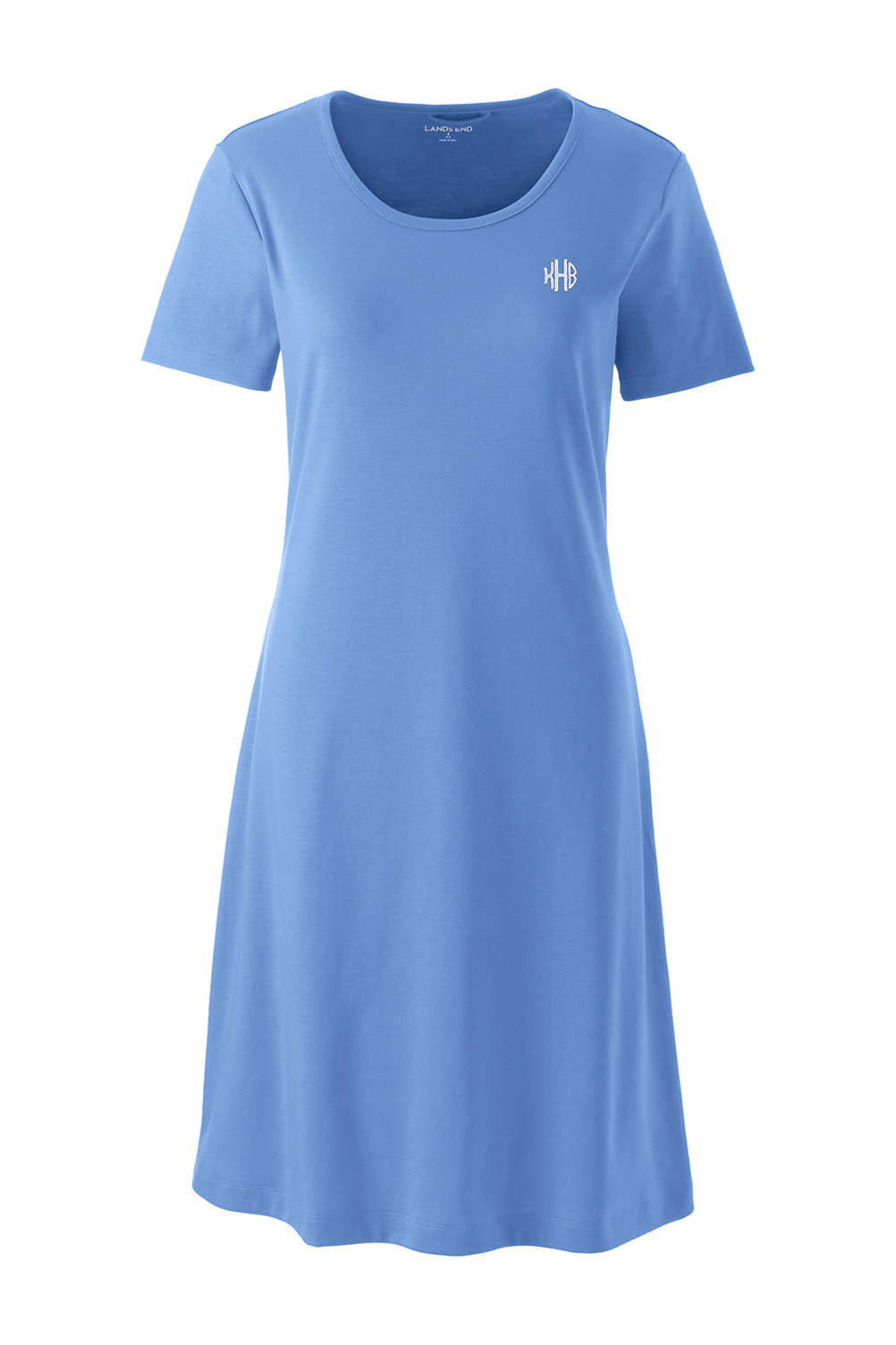 Women s Knee Length Supima Cotton Nightgown Short Sleeve from Lands  End 8b7a55cda5