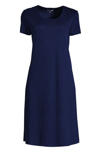 La Chemise de Nuit Mi-Longue à Manches Courtes, Femme Stature Standard