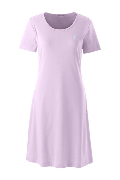 Women's Supima Cotton Short Sleeve Knee Length Nightgown Dress