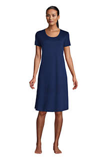 Women's Supima Cotton Short Sleeve Knee Length Nightgown Dress, Front
