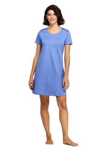Women s Knee Length Supima Cotton Nightgown Short Sleeve 17c992272