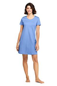 Women s Knee Length Supima Cotton Nightgown Short Sleeve 64948e9620