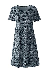 Women s Knee Length Supima Cotton Nightgown Print Short Sleeve f6cc85662e