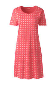 Women's Supima Cotton Short Sleeve Knee Length Nightgown - Print