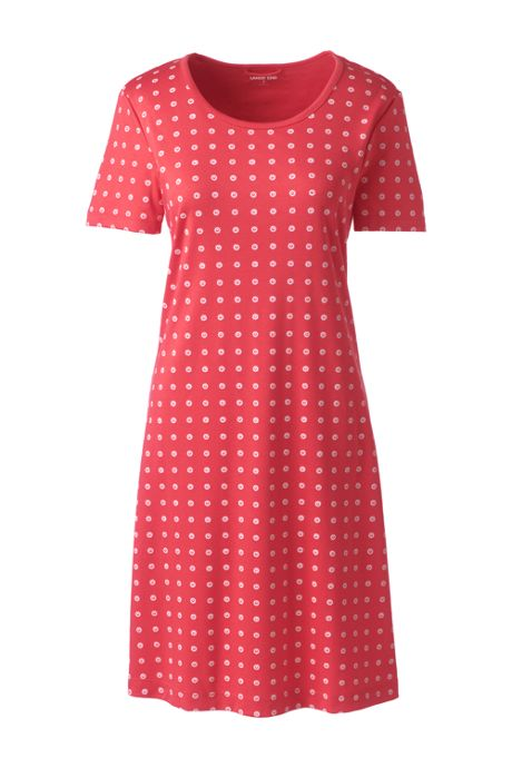 Women's Supima Cotton Short Sleeve Knee Length Nightgown - Print