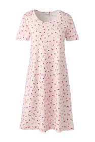 Women's Plus Size Knee Length Supima Cotton Nightgown Print Short Sleeve