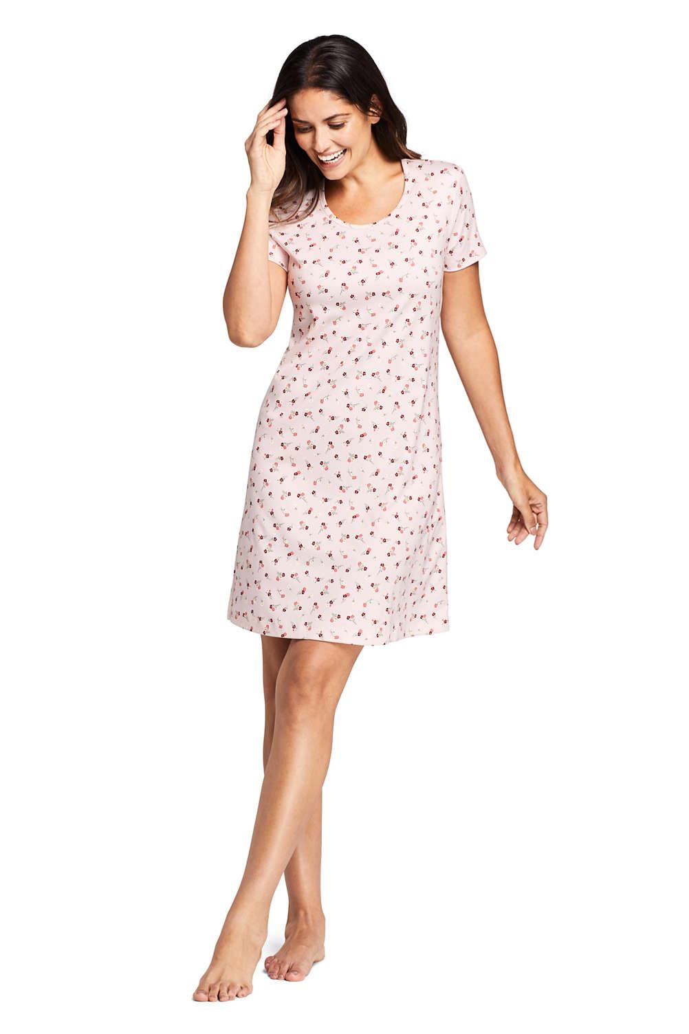 0bcc74640 Women's Supima Cotton Short Sleeve Knee Length Nightgown - Print ...