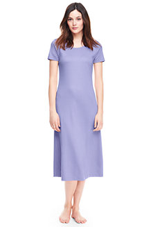 Women's Supima Short Sleeve Calf-length Nightdress