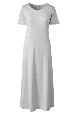 brand new f7fa1 0e80d Wadenlanges Supima Kurzarm-Nachthemd für Damen