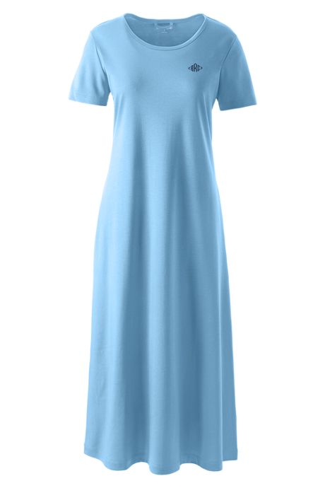 Women's Petite Supima Cotton Short Sleeve Midcalf Nightgown