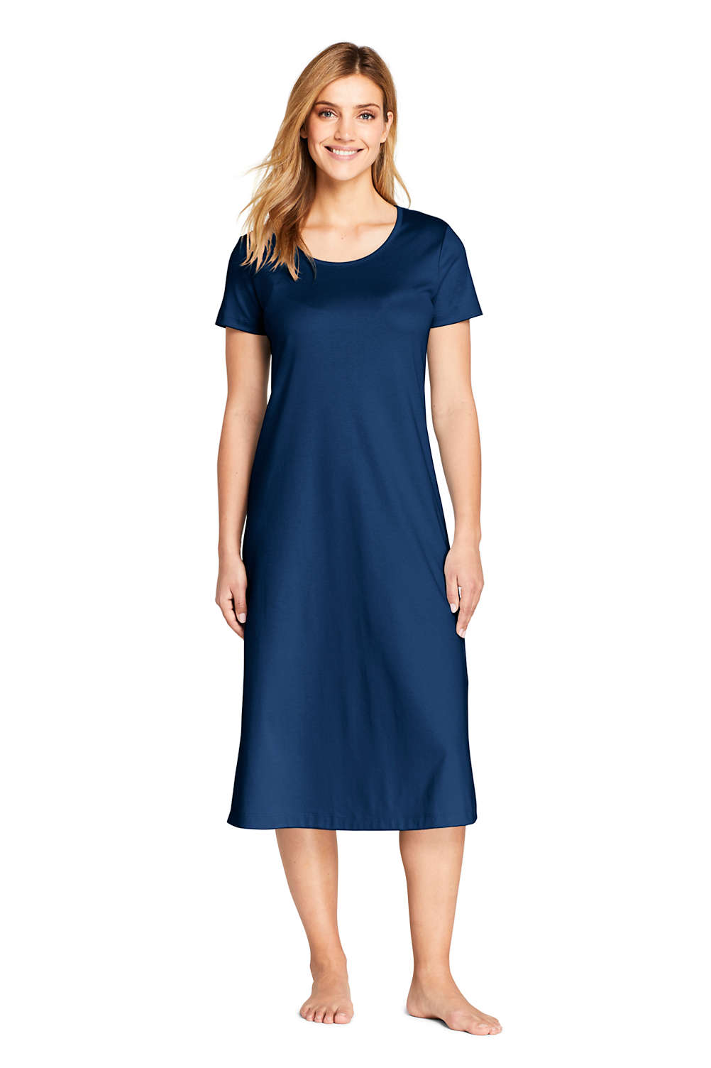 3b8c902d1 Women's Midcalf Supima Cotton Nightgown from Lands' End