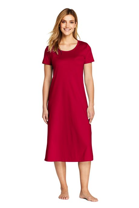Women's Tall Supima Cotton Short Sleeve Midcalf Nightgown