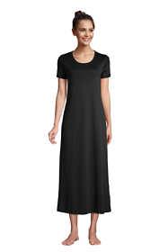 Women's Petite Supima Cotton Short Sleeve Midcalf Nightgown Dress