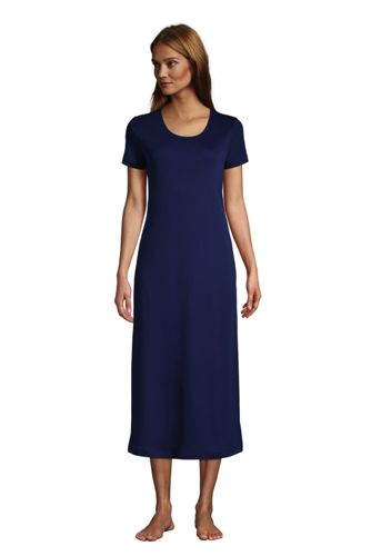 Women's Petite Supima Short Sleeve Calf-length Nightdress