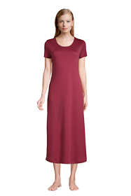 Women's Tall Supima Cotton Short Sleeve Midcalf Nightgown Dress