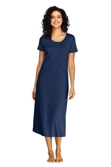 Women's Supima Cotton Short Sleeve Midcalf Nightgown