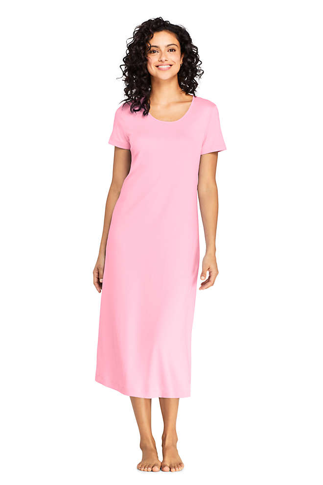 Women's Supima Cotton Short Sleeve Midcalf Nightgown Dress, Unknown