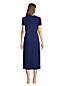 Wadenlanges Supima Kurzarm-Nachthemd für Damen in Petite-Größe