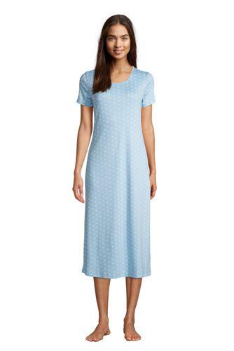 La Chemise de Nuit Longue à Manches Courtes, Femme Stature Standard