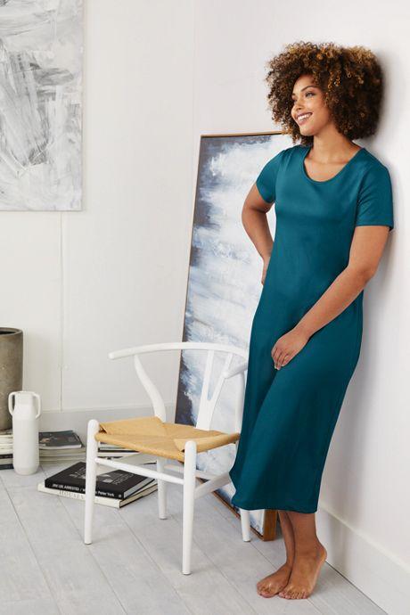 Women's Plus Size Midcalf Supima Cotton Nightgown