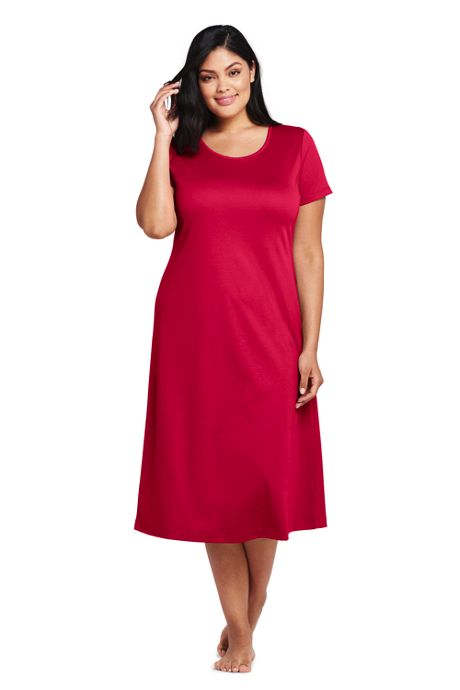 Women's Plus Size Women's Midcalf Supima Cotton Nightgown