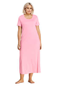 Women's Plus Size Supima Cotton Short Sleeve Midcalf Nightgown