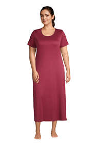 Women's Plus Size Supima Cotton Short Sleeve Midcalf Nightgown Dress
