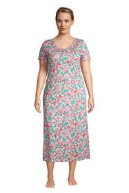 Women's Plus Size Supima Cotton Short Sleeve Midcalf Nightgown Dress