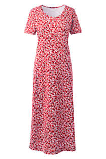Women's Supima Cotton Short sleeve Midcalf Nightgown - Print, Front