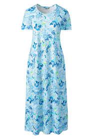 Women's Plus Size Supima Cotton Short Sleeve Midcalf Nightgown - Print