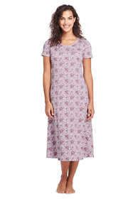 Women's Midcalf Supima Cotton Nightgown Print Short Sleeve