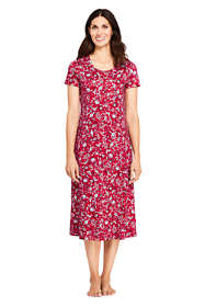 Women's Tall Supima Cotton Short sleeve Midcalf Nightgown - Print