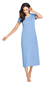Women s Midcalf Supima Cotton Nightgown Print Short Sleeve bdaaac53ea16