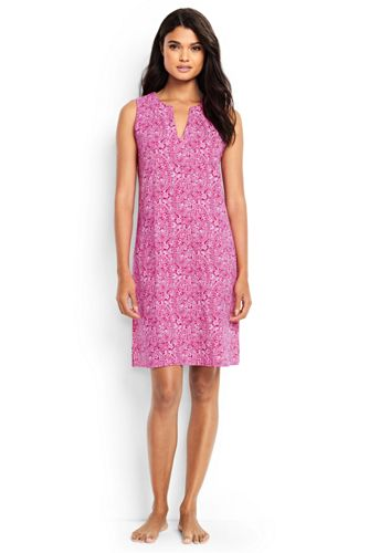 Women's Cotton Sleeveless Dress Cover-up from Lands' End