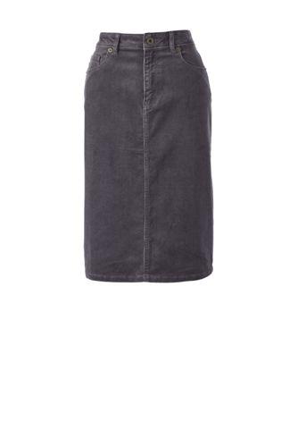 5-Pocket Cordrock für Damen in Petite-Größe