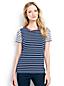 Le T-Shirt Multi-Rayures à Manches Courtes, Femme Stature Standard