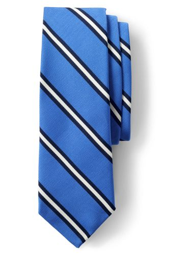 Men's Regular Prep Stripe Silk/Cotton Tie