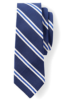 Seiden/Baumwoll-Krawatte mit Streifen für Herren