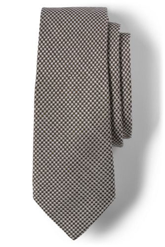 Men's Houndstooth Silk Tie