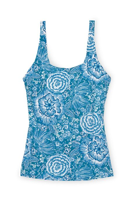 Women's D-Cup Square Neck Tankini Top