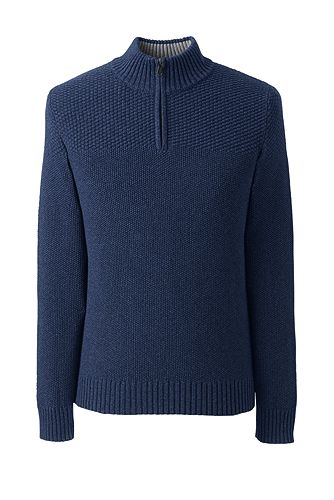 Cotton Drifter Half-zip Sweater 482486: Midnight Sky Heather