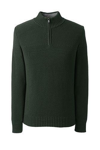 Cotton Drifter Half-zip Sweater 482486: Evergreen Forest