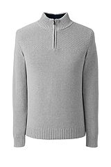 Cotton Drifter Half-zip Sweater 482486: Gray Heather