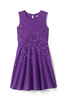 Girls' Sleeveless Sparkle Ponte Dress