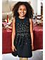 Ärmelloses Ponté-Kleid mit Pailletten für große Mädchen