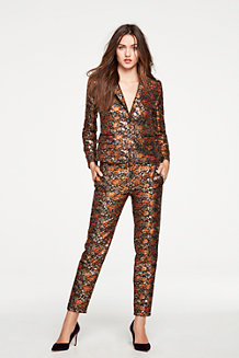 Women's Metallic Brocade Blazer