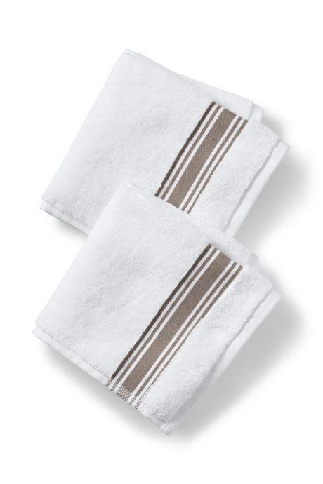 Turkish Ticking Stripe Dobby Washcloth