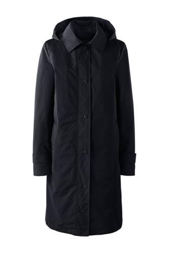 Lands' End Women's Regular Coastal Rain Coat - 10 -12, Black